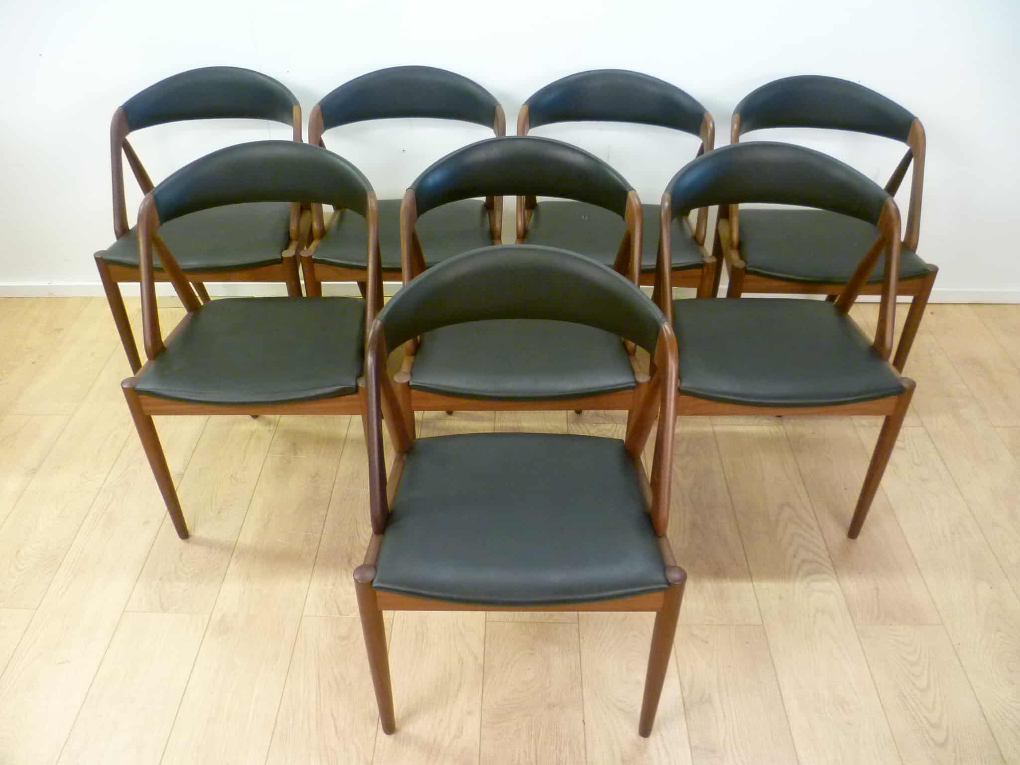Eight Kai Kristiansen Dining Chairs Mark Parrish Mid Century Modern