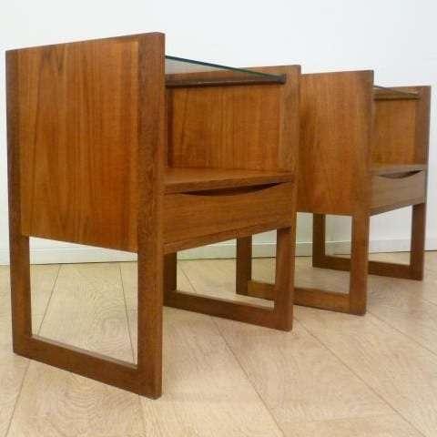 teak bedside drawers 1960s