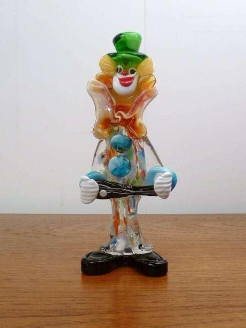 Murano Glass Clown Mark Parrish Mid Century Modern
