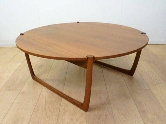... coffee table by peter hvidt price sold a large round teak coffee table