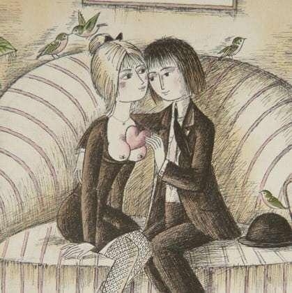 Lovers by Raymond Peynet