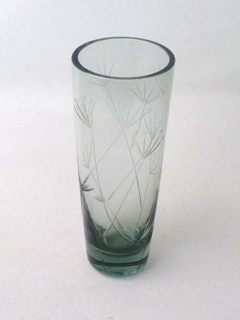 Whitefriars cut glass vase - Mark Parrish Mid Century Modern