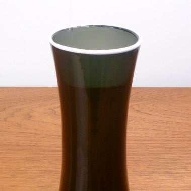 Whitefriars enamel rimmed vase
