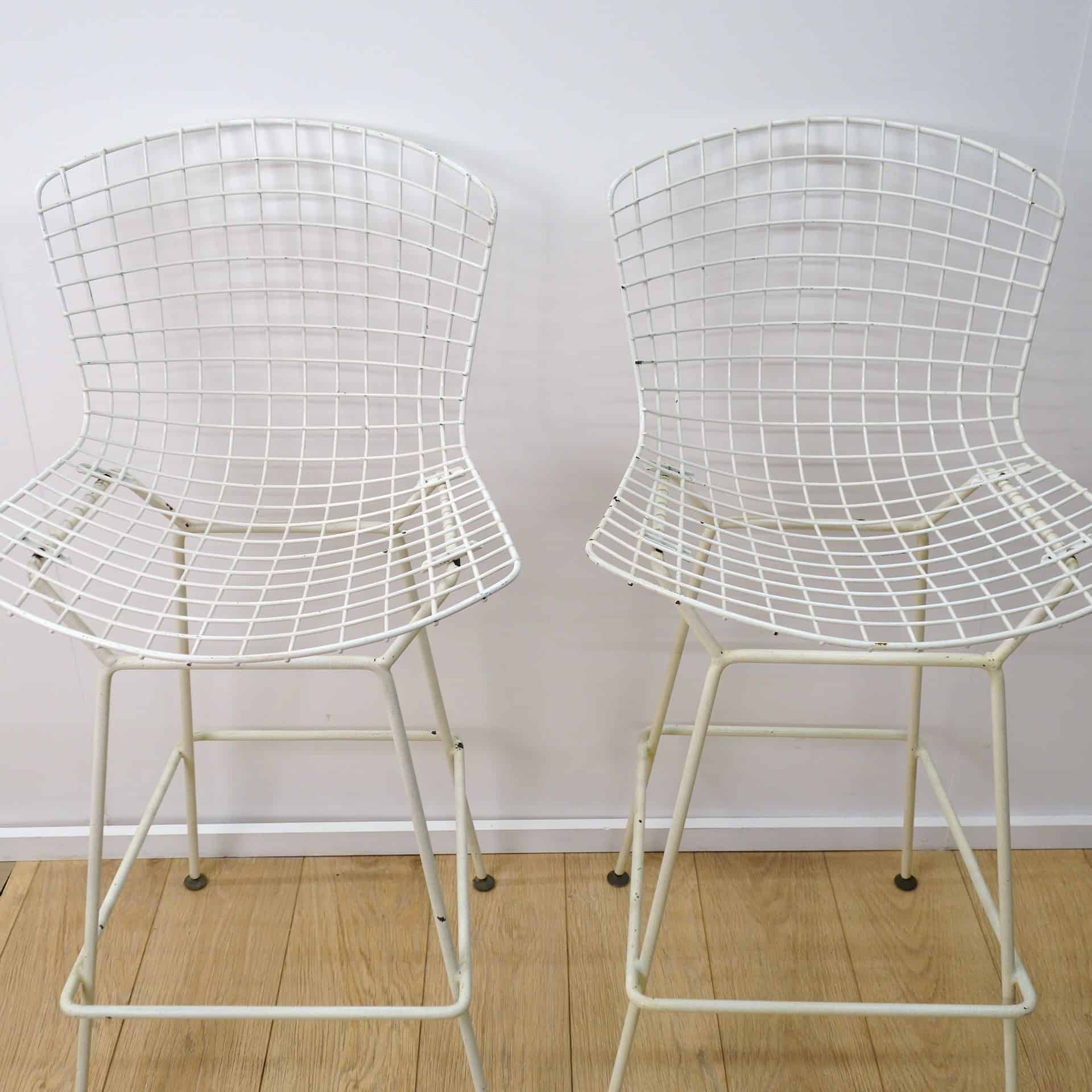 Wire bar stools by harry bertoia for knoll mark parrish mid century modern - Bertoia wire counter stool ...