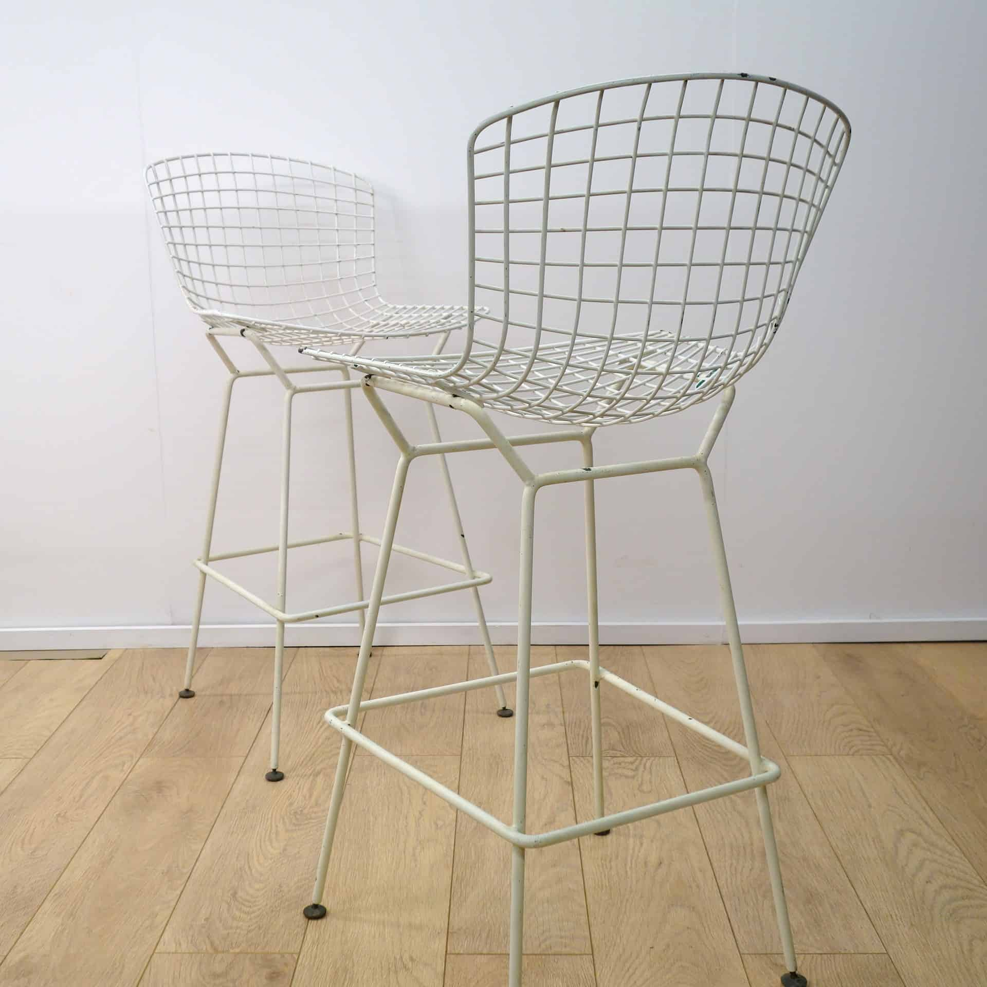 Wire bar stools by harry bertoia for knoll mark parrish mid century modern - Tabouret bar bertoia ...