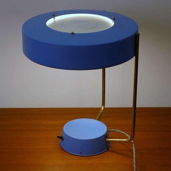blue stilnovo lamp 1950s