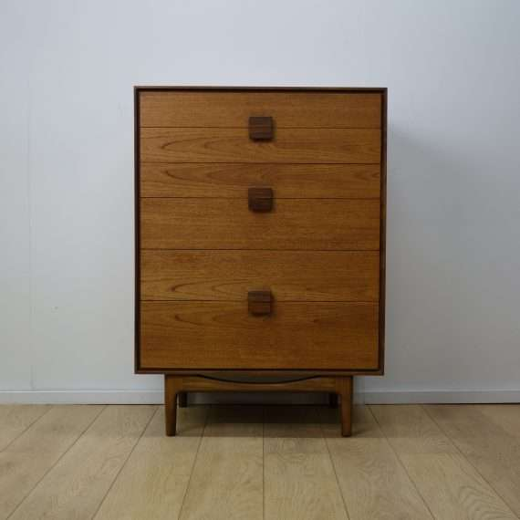 Teak Ib Kofod Larsen chest of drawers