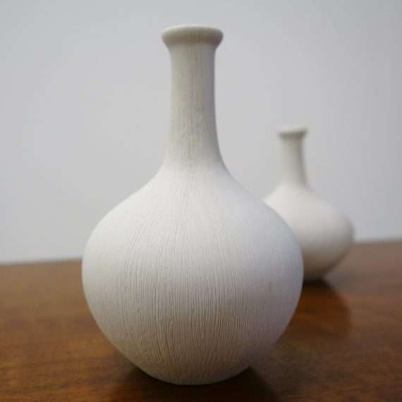 A pair of Swedish Lindform bottle vases
