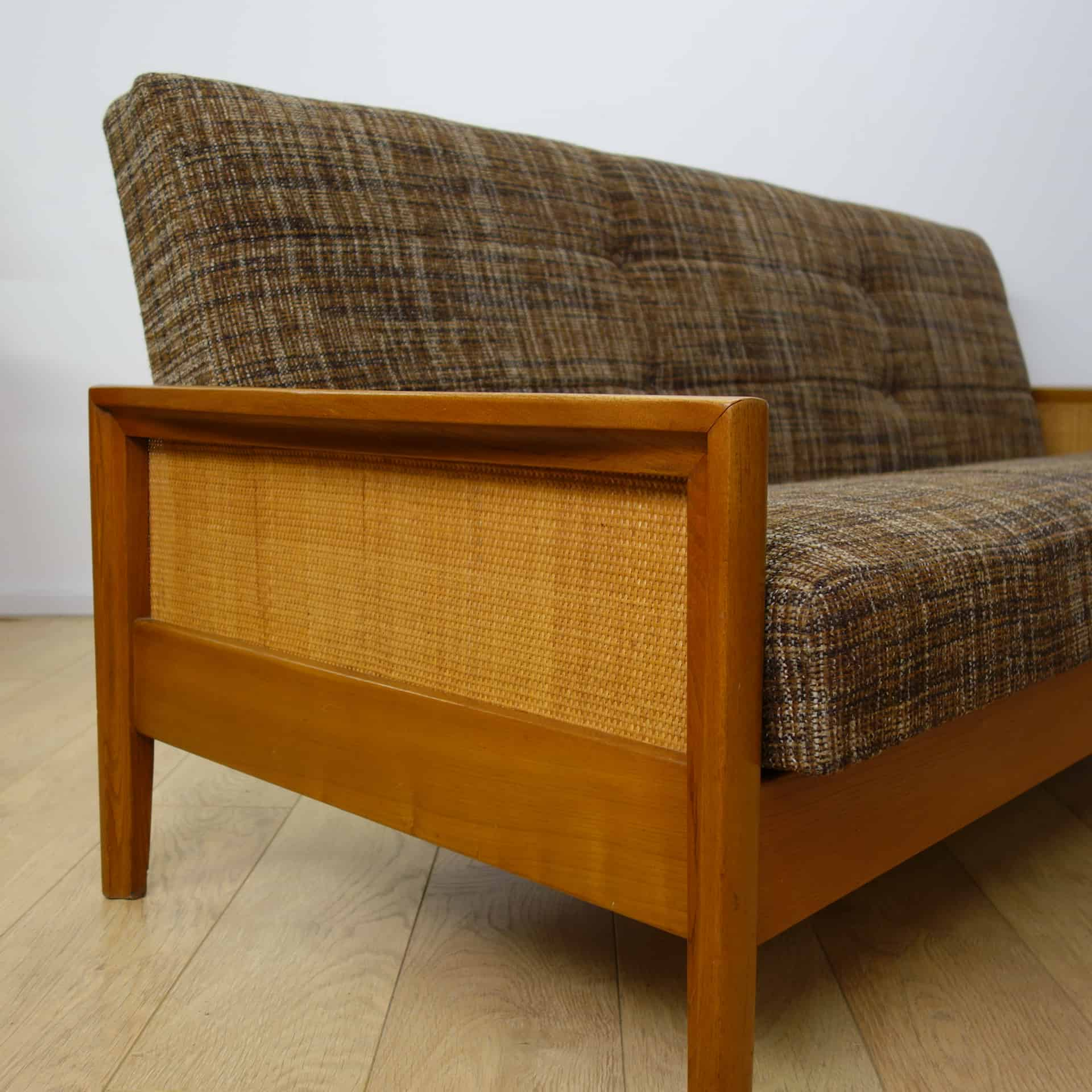 Wicker Futon Sofa Bed 1960s Sofa Bed With Rattan Sides Mark Parrish Mid