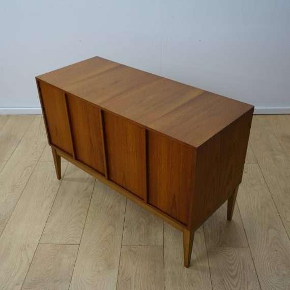 1960s teak record storage