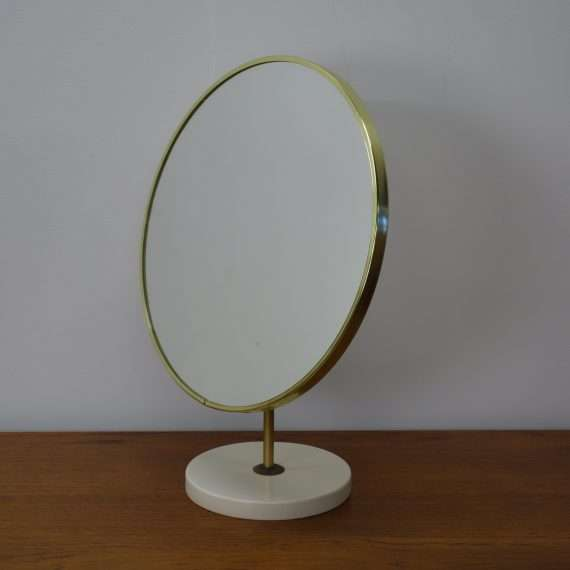 white and gold mirror