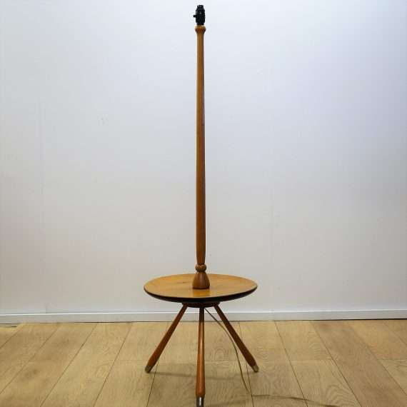 1950s tripod table and floor lamp