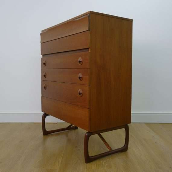 1960s tall teak chest of drawers by DS