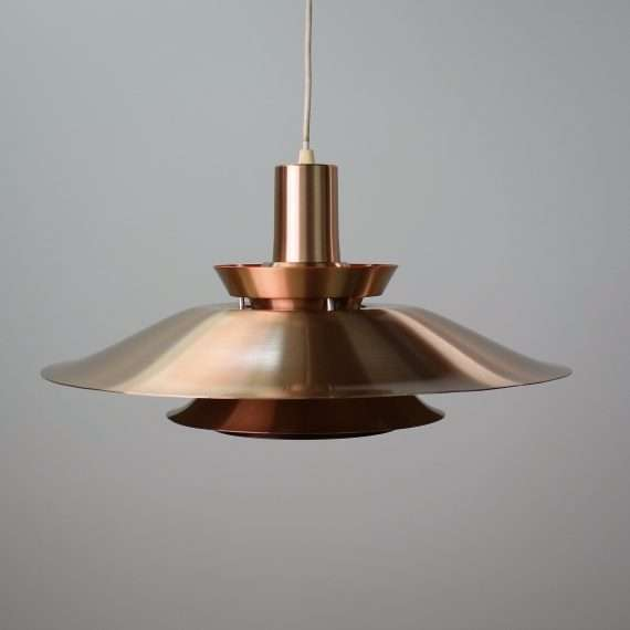 Fog & Morup style copper tiered pendent light