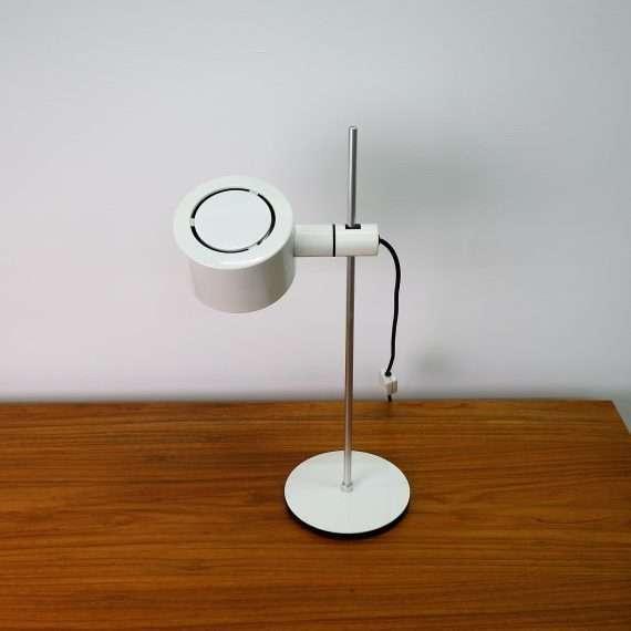 1970s white desk lamp by Conelight Ltd