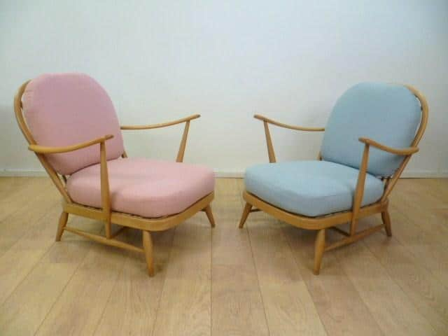 A Pair Of Ercol Armchairs Mark Parrish Mid Century Modern