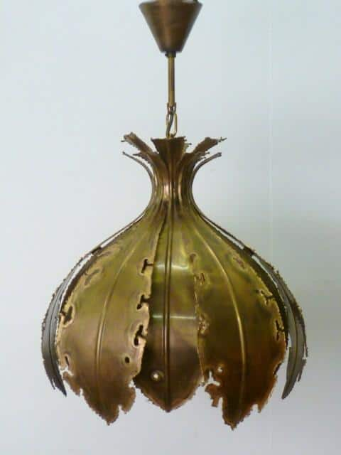 Brutalist pendent lamp by Svend Aage