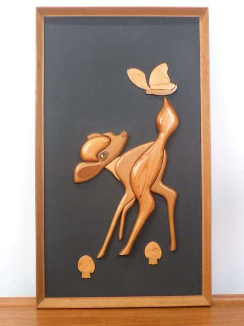 Wooden Bambi relief