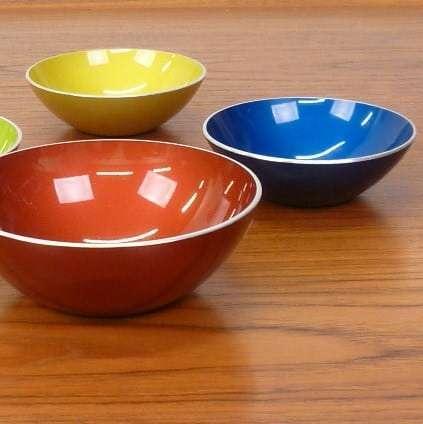 Set of Norwegian Emalox bowls