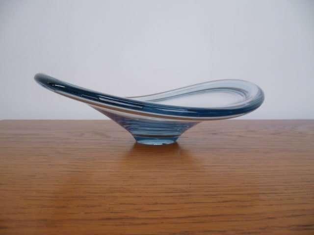 Pale blue Holmegaard fruit bowl