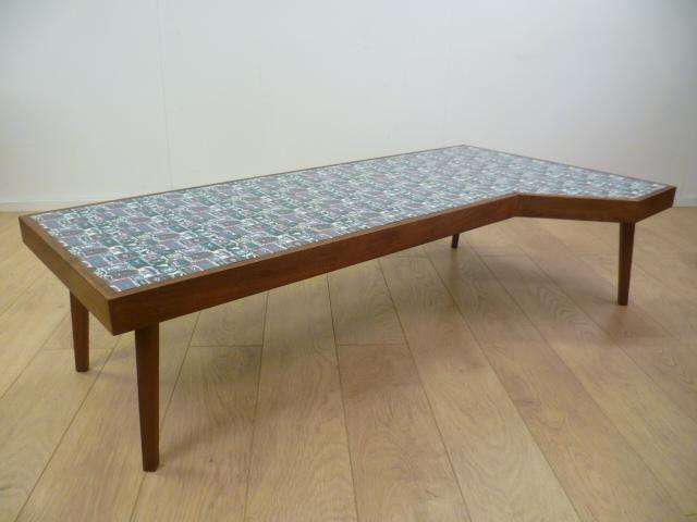 1960s bespoke coffee table with laminate top