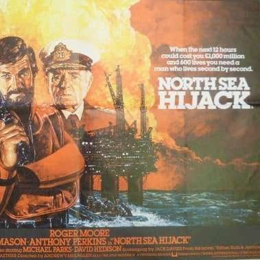 north sea hijack vintage poster