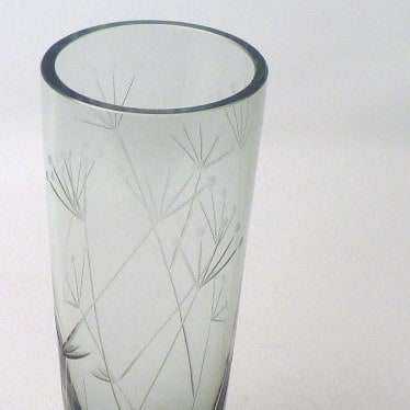 Whitefriars cut glass vase