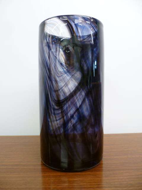 Whitefriars Purple Streaky Vase Mark Parrish Mid Century