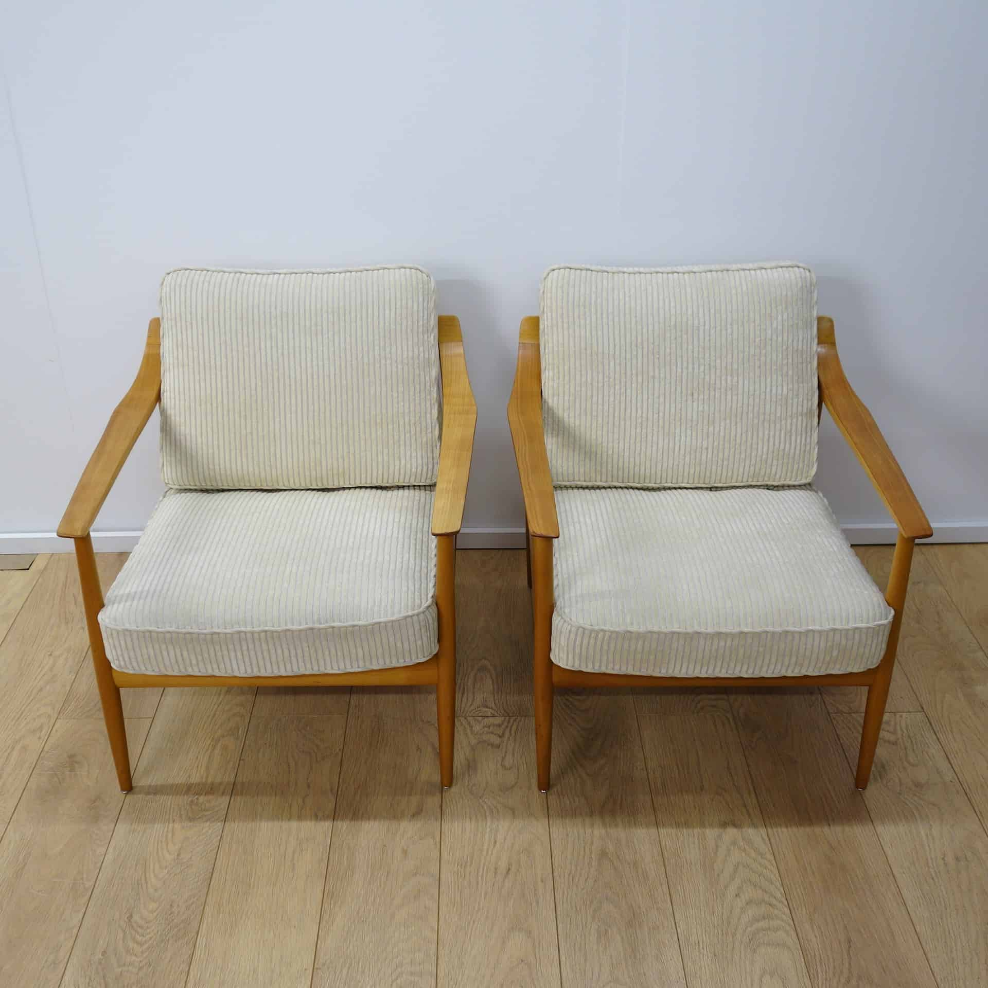 Pair of Wilhelm Knoll arm chairs