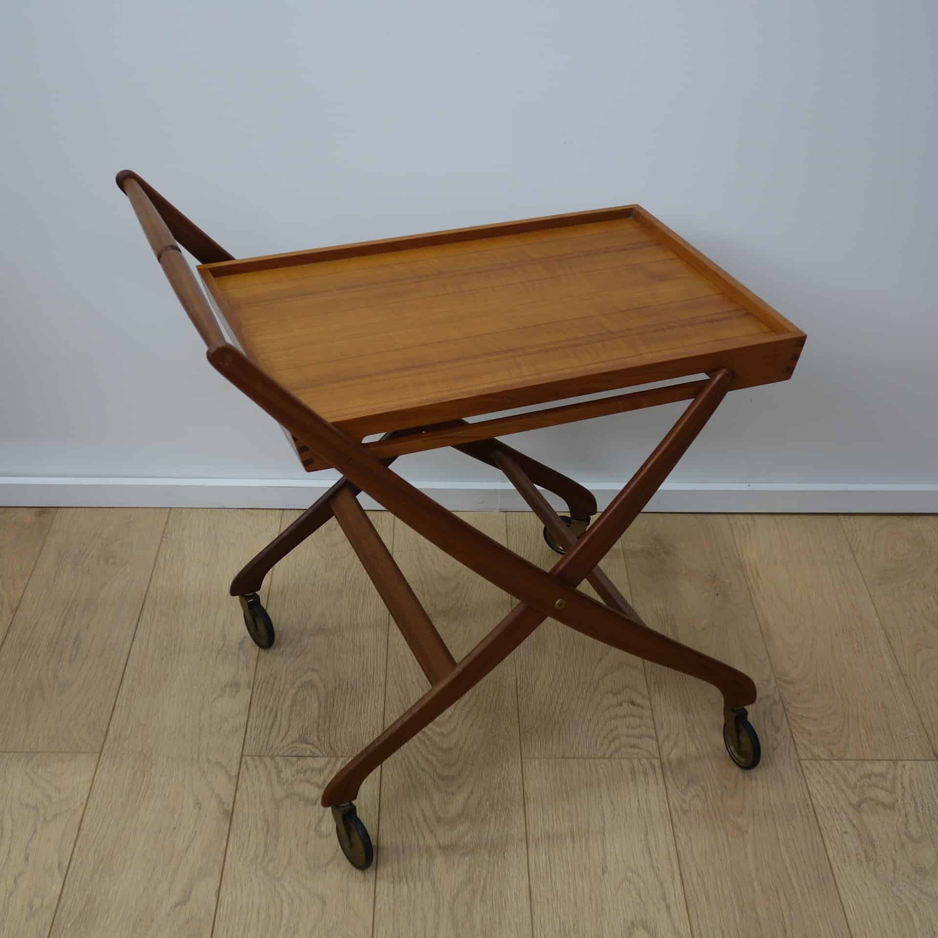 1960s Danish teak folding tea cart