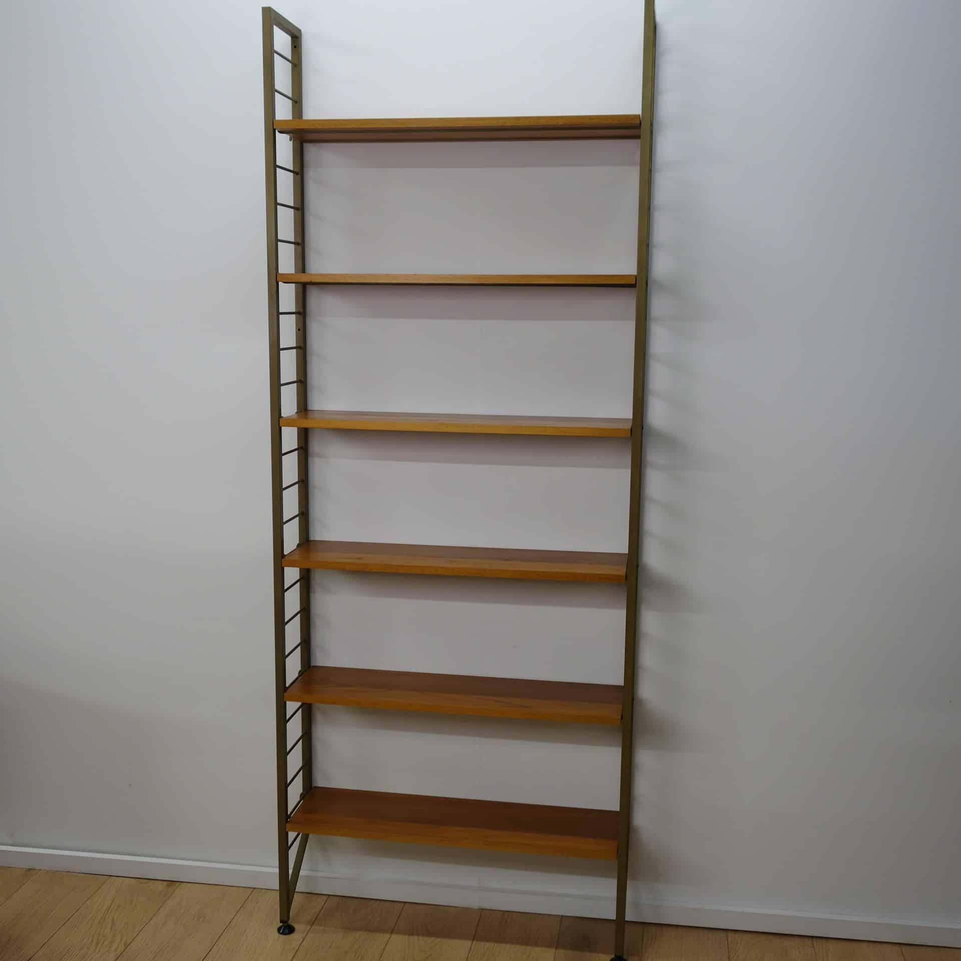 1960s teak book shelves by Ladderax