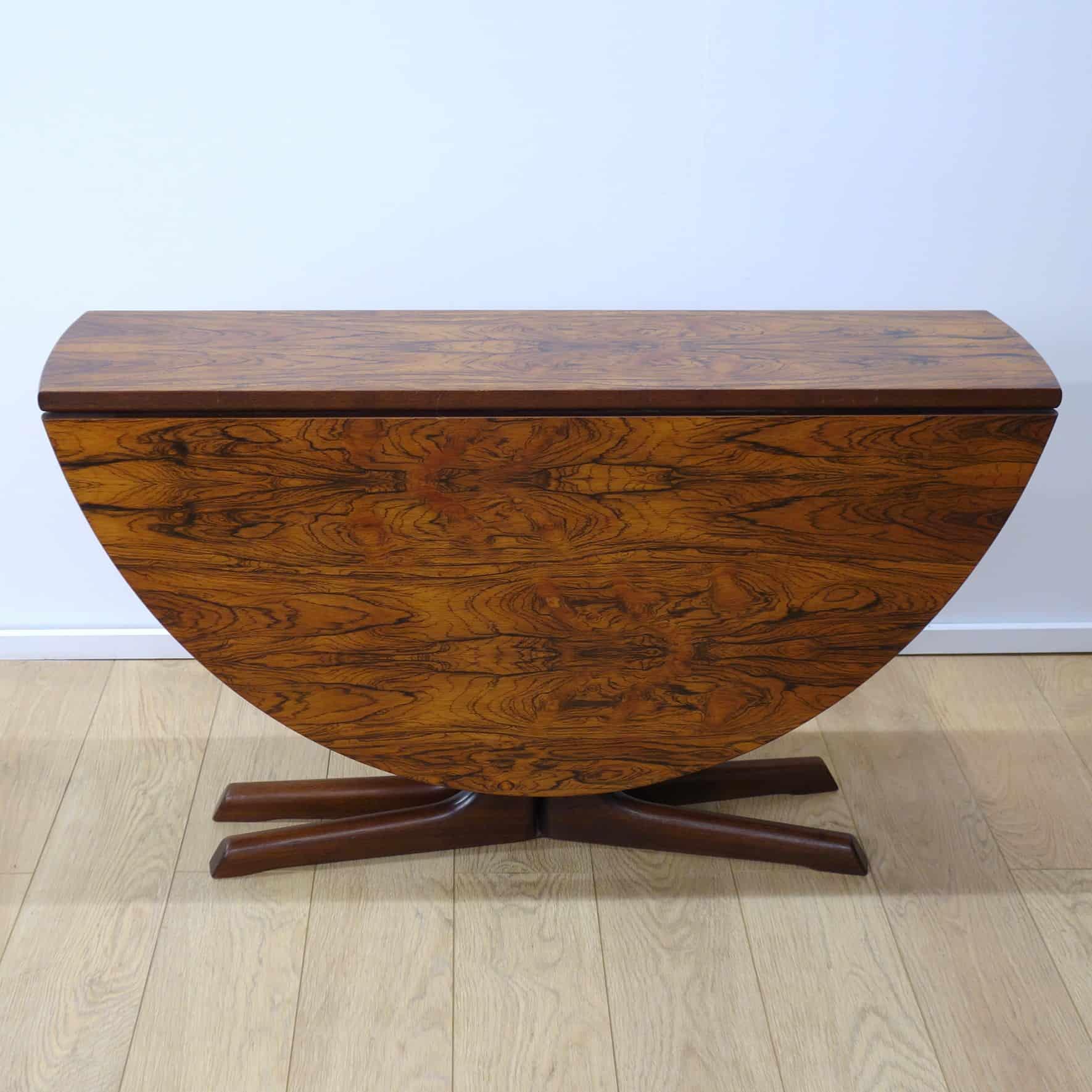 1960s Drop leaf rosewood dining table