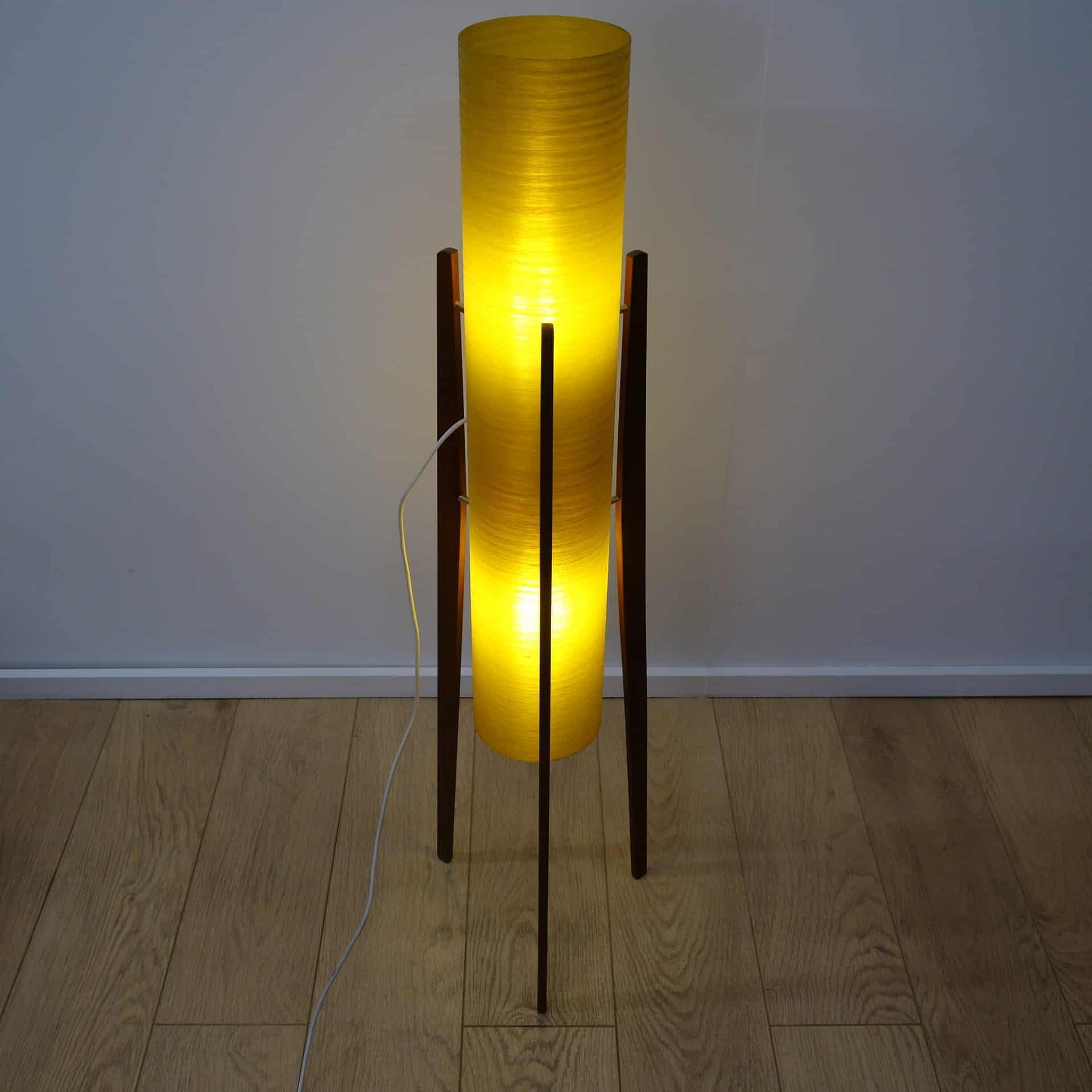 1960s Teak Rocket Lamp Mark Parrish Mid Century Modern