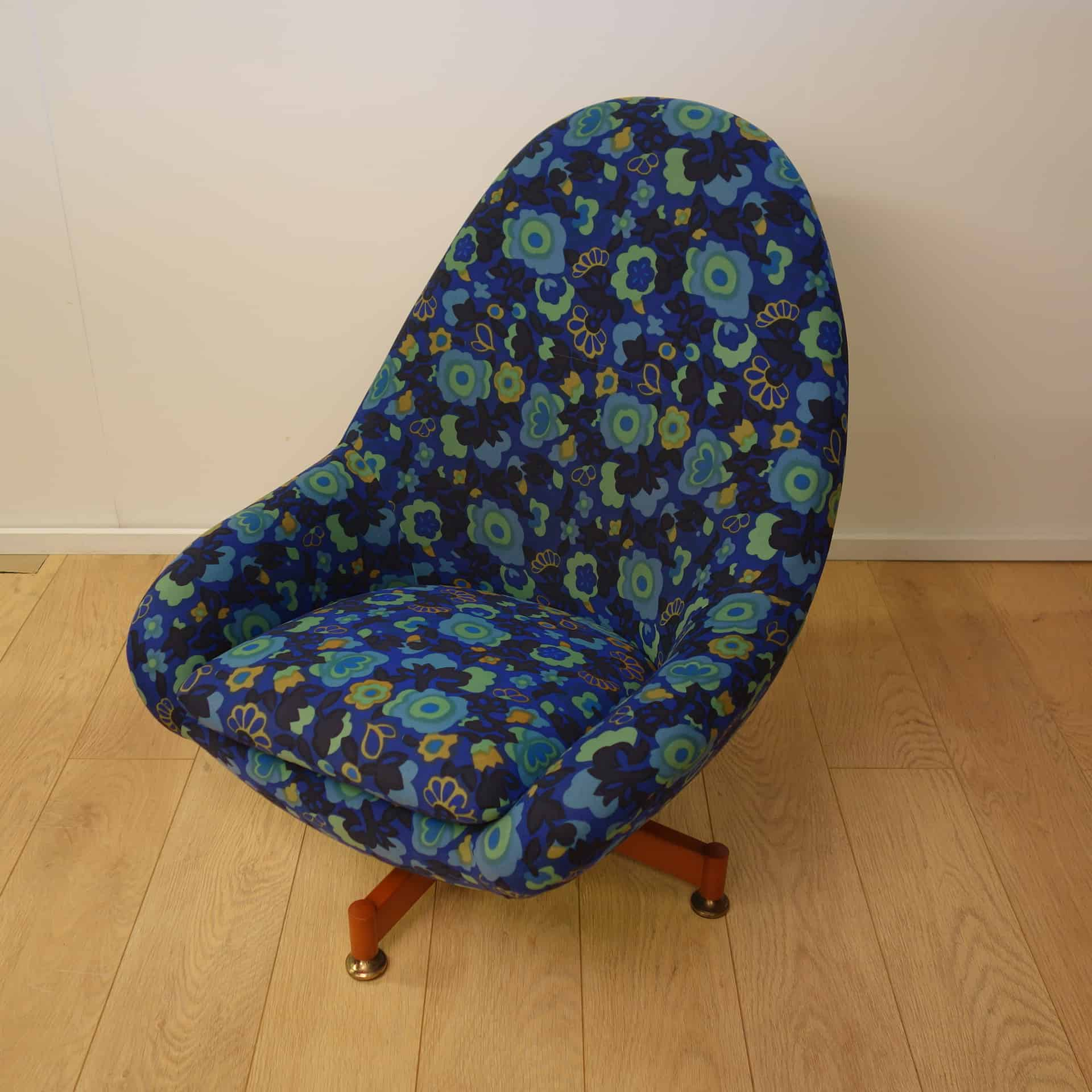 1960s Greaves and Thomas egg chair Mark Parrish Mid Century Modern