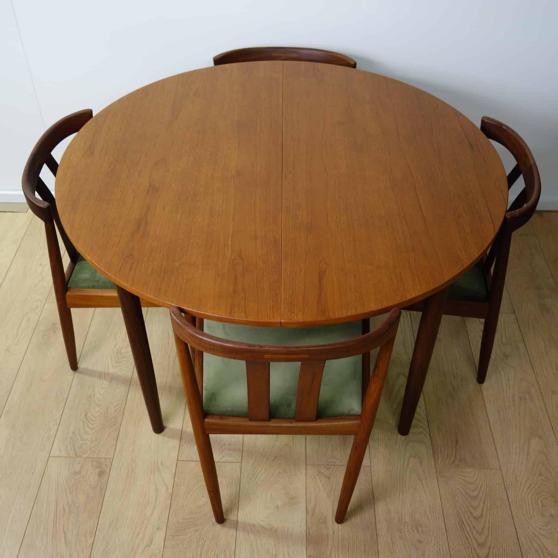 Teak Dining Table And Chairs: Danish Teak Extending Dining Table And 8 Chairs