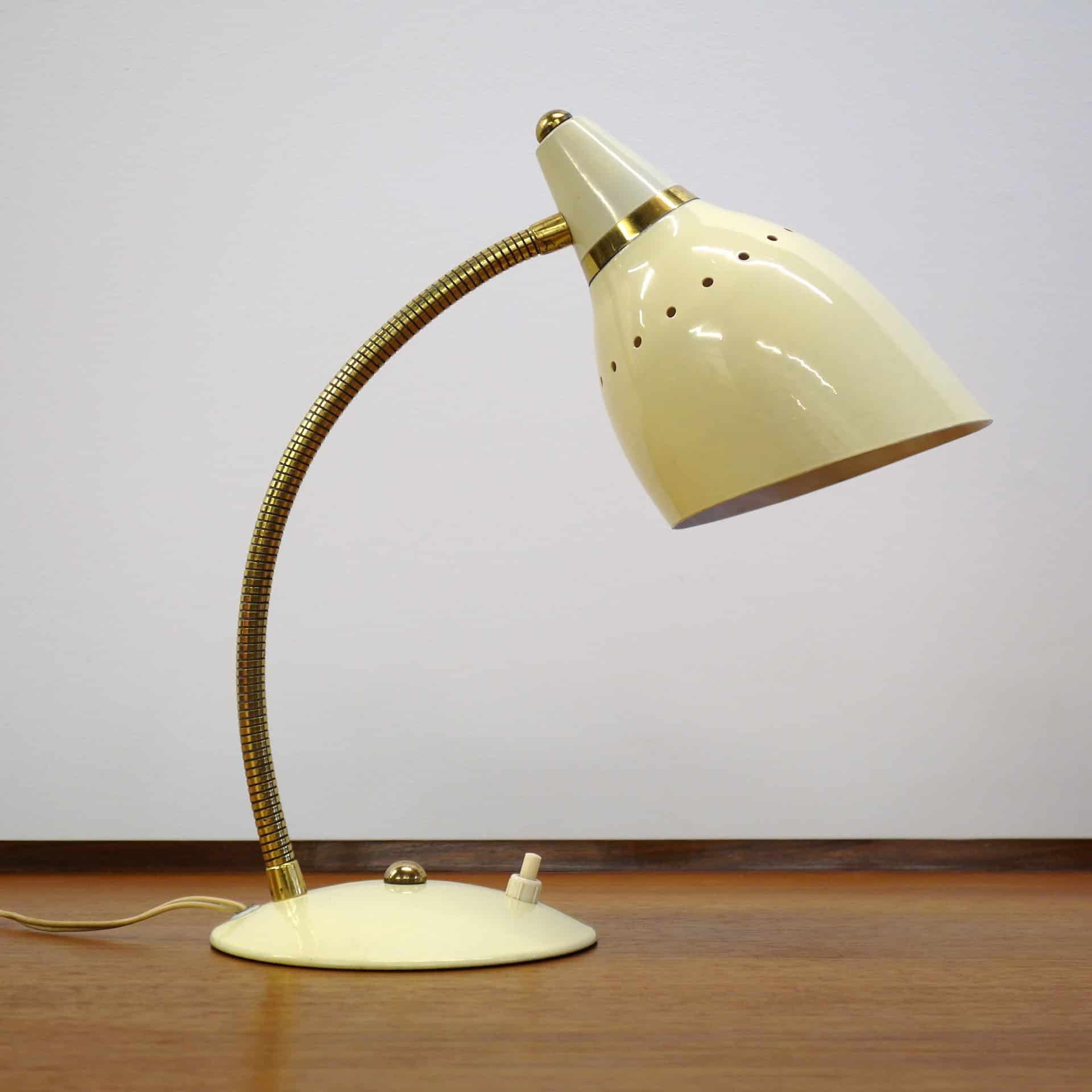 1950s Adjustable Gooseneck Desk Lamp