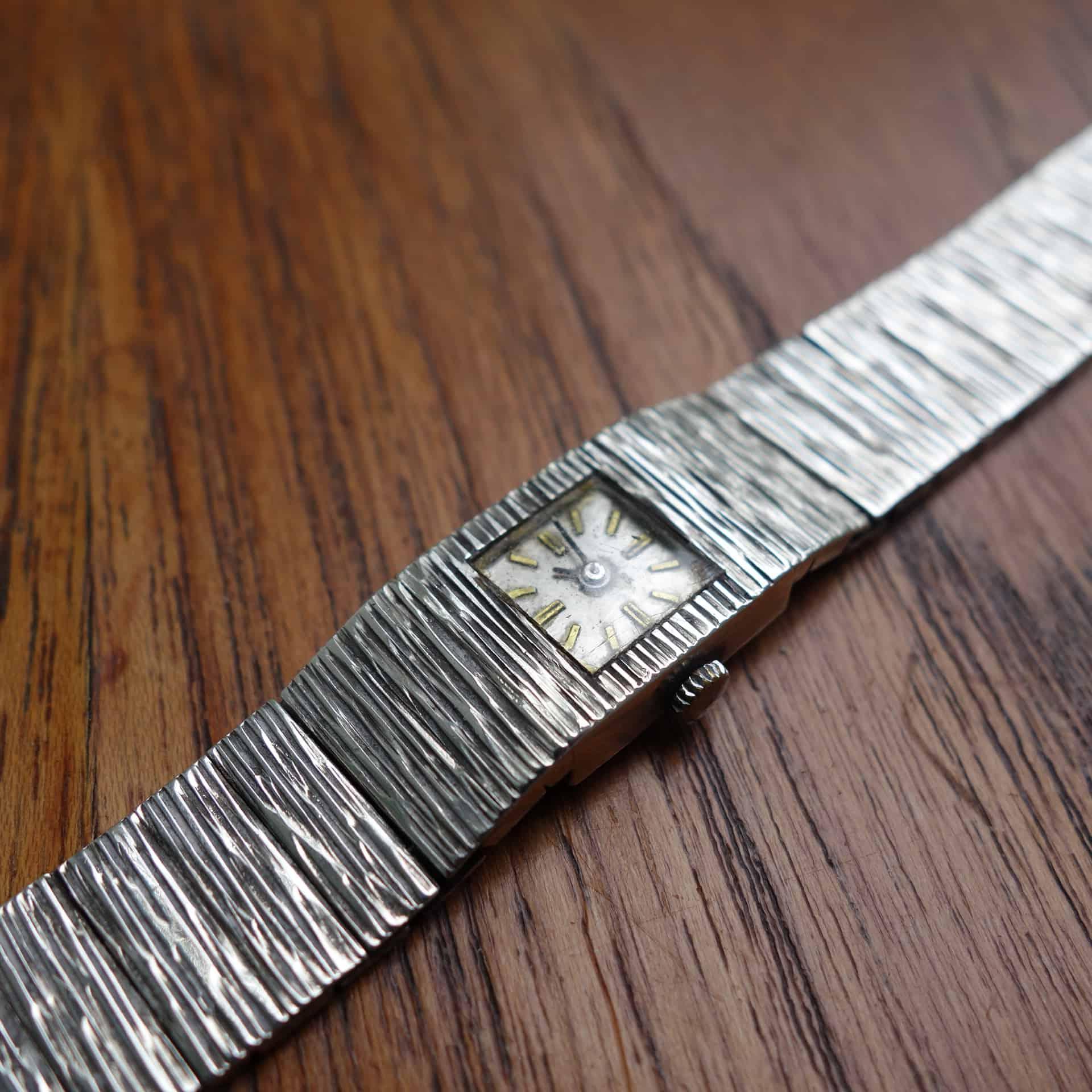 1960s silver Benney style Swiss watch