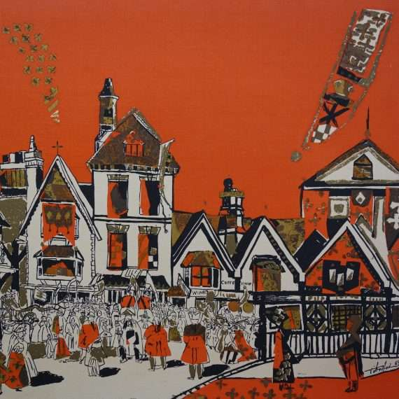 Stratford upon Avon fabric print by Tibor Reich