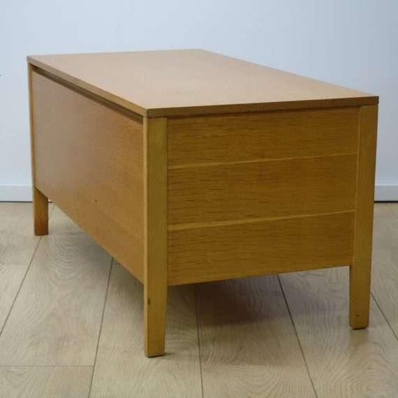 60s oak storage box by Meredew