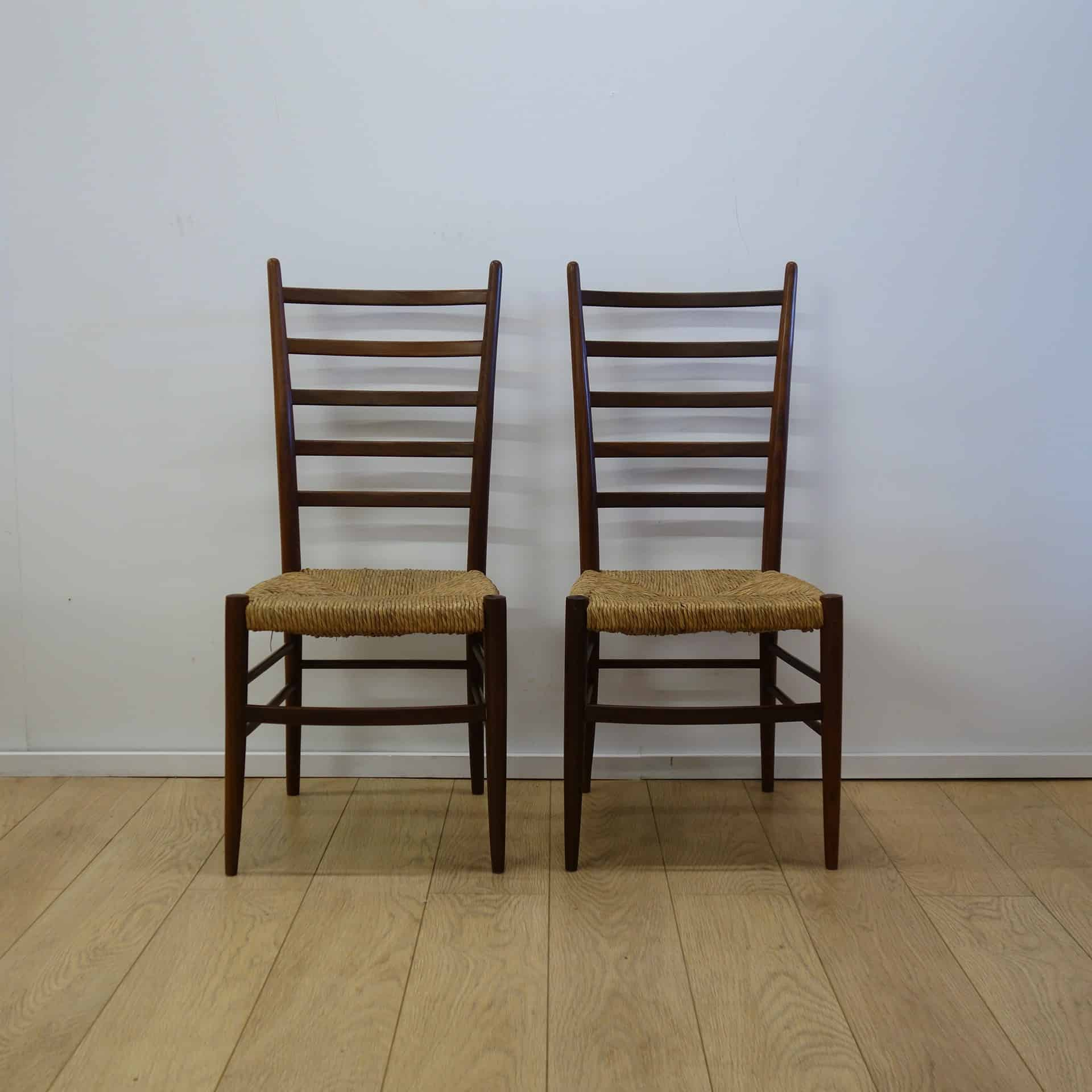 Rooksmoor mills teak stick back chairs