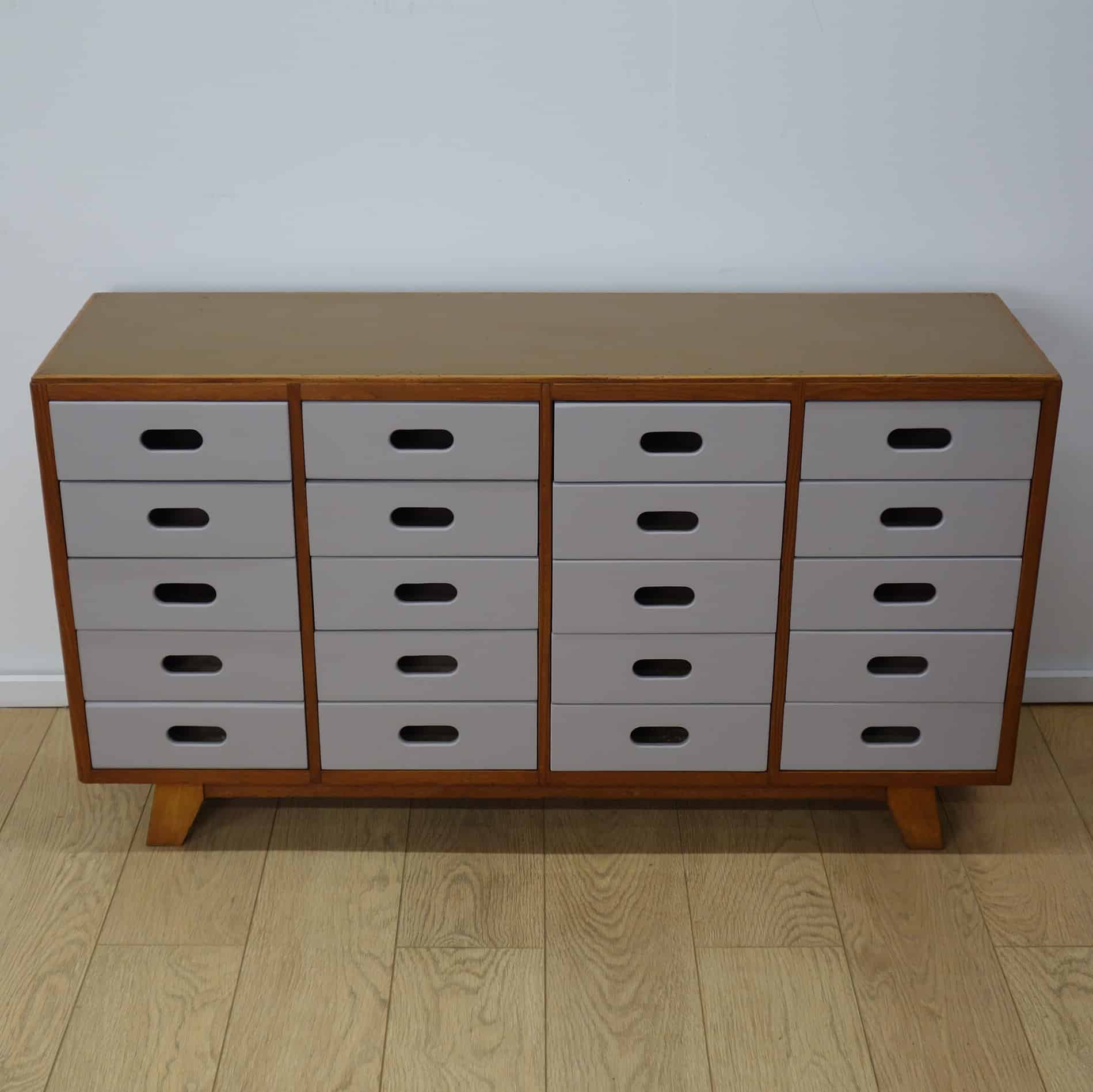 1950s Esavian multi drawer chest by James leonard