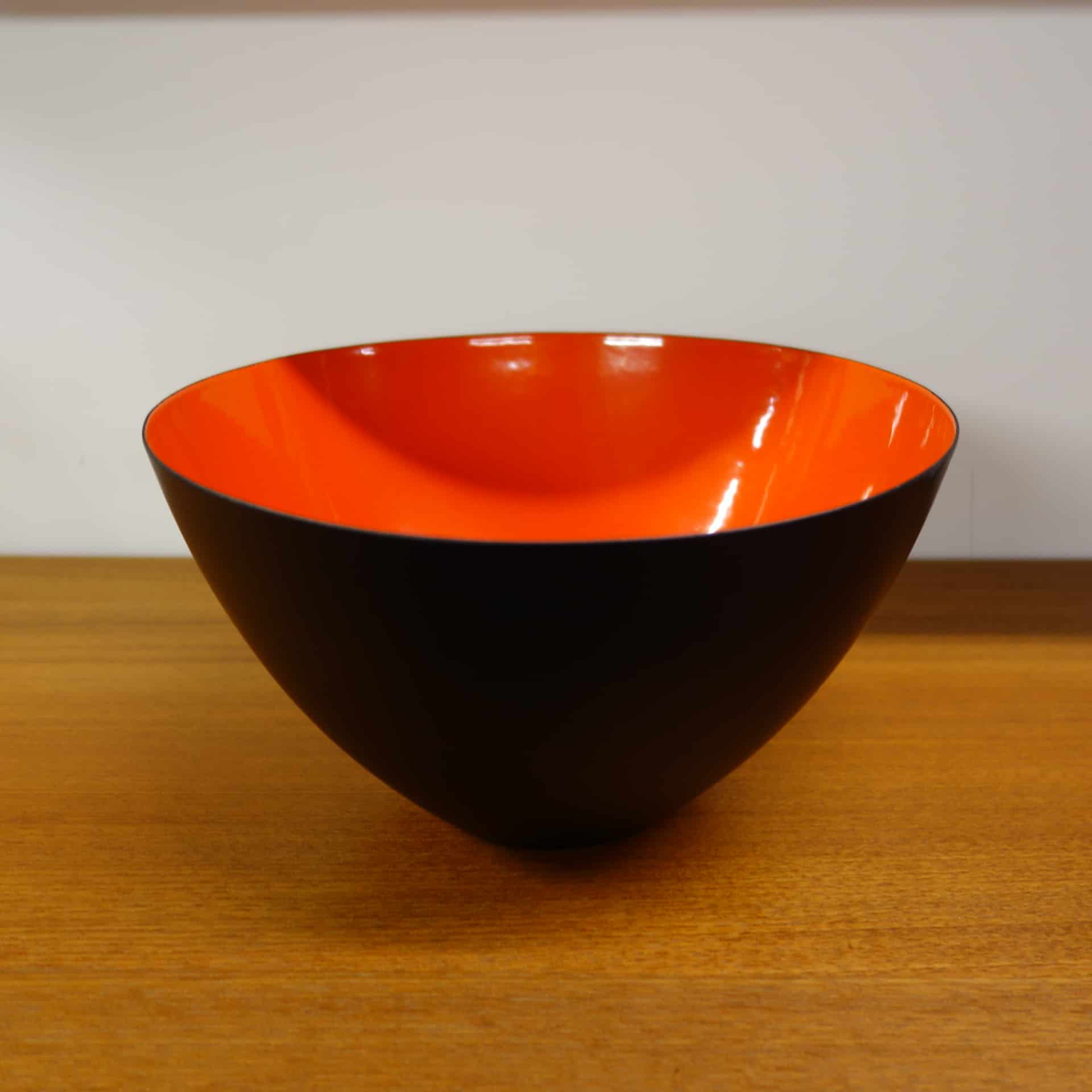 Red Krenit bowl by Herbert Krenchel