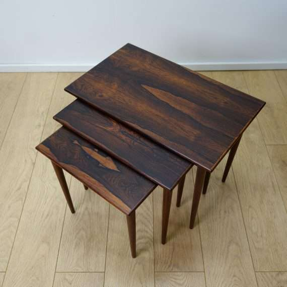 Danish 60s rio rosewood nest of tables