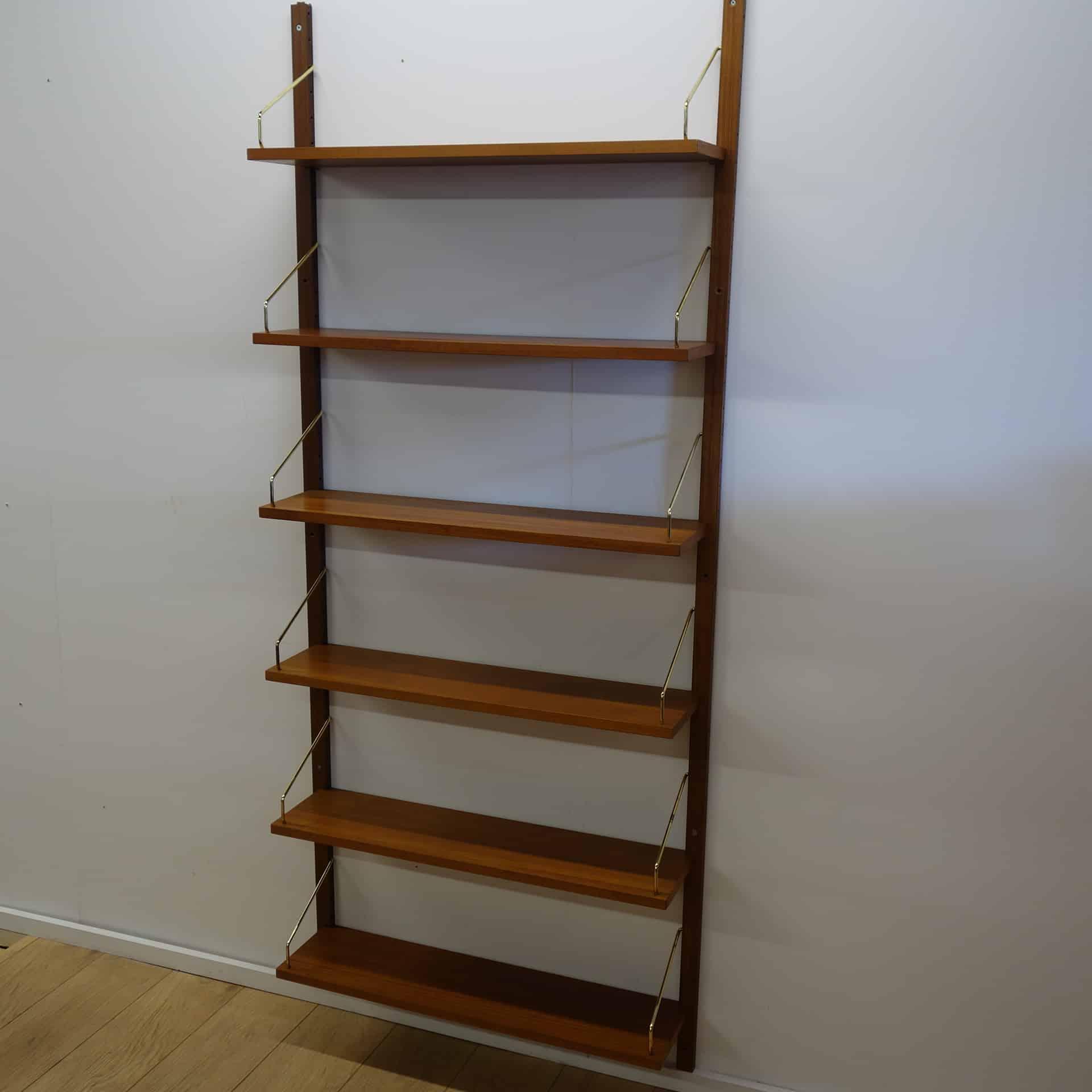 Danish Royal teak book shelves by cado