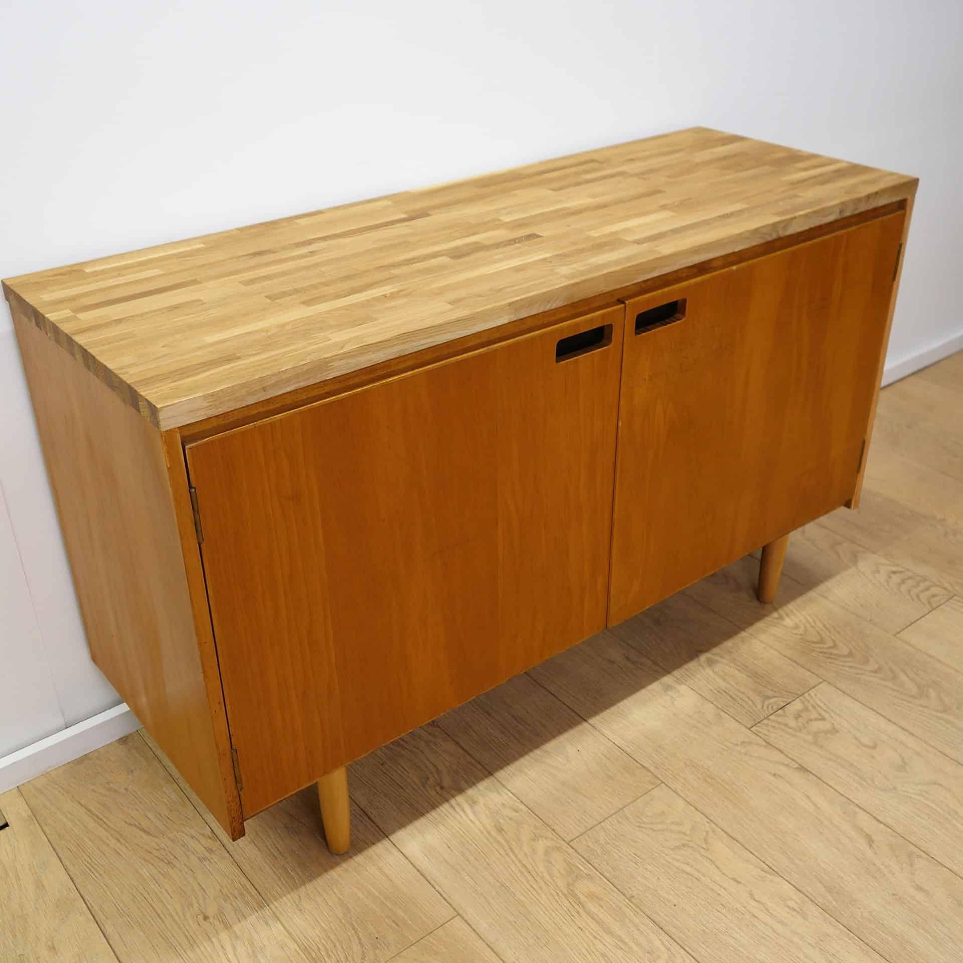 vintage 60s school cabinet