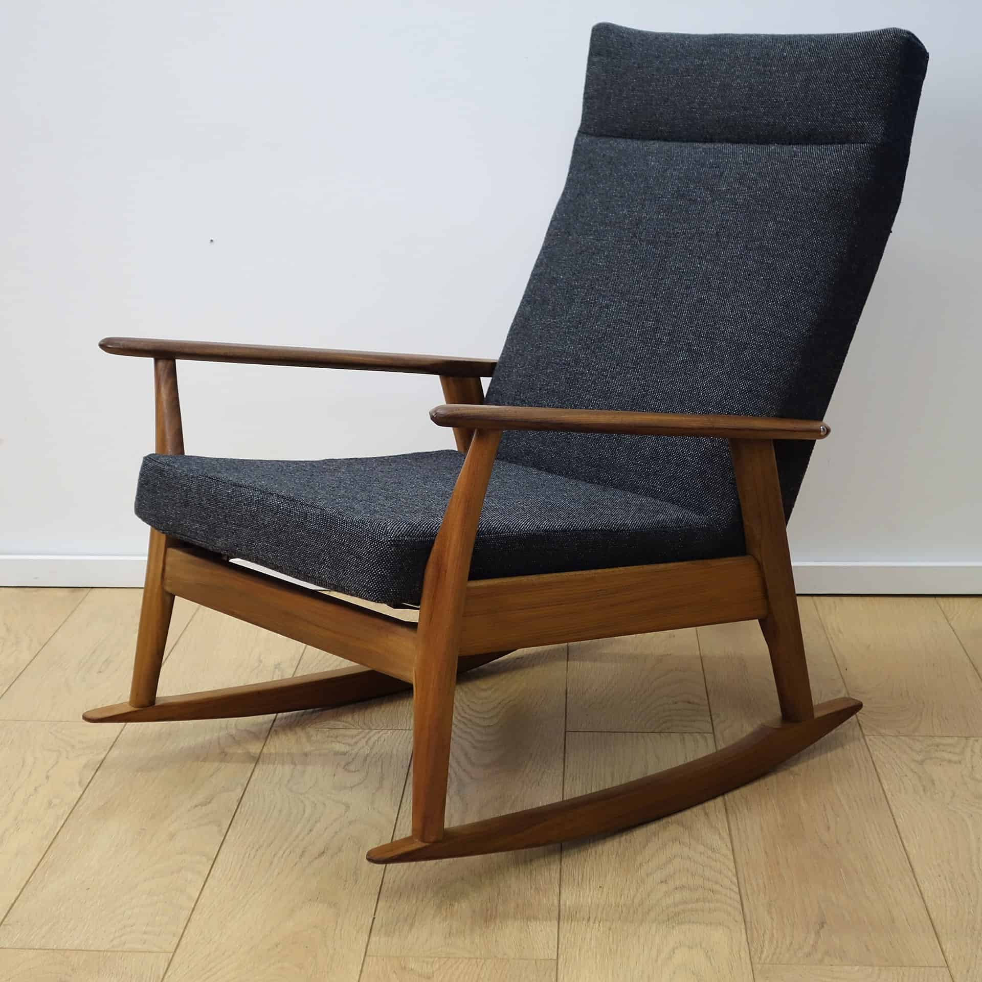 1960s teak rocking chair