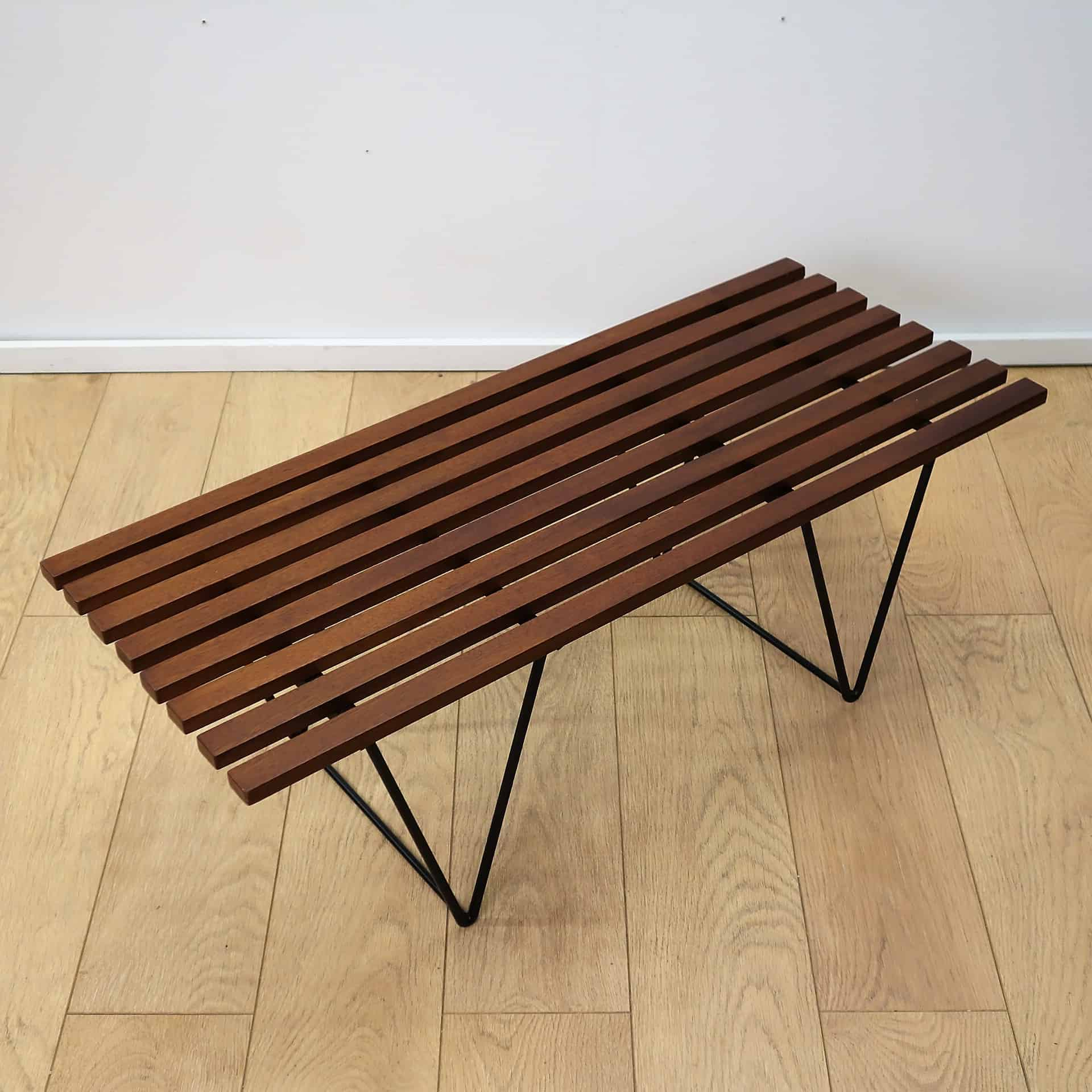 robin day style slatted bench