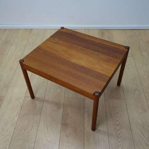 Danish teak coffee table with reversible top