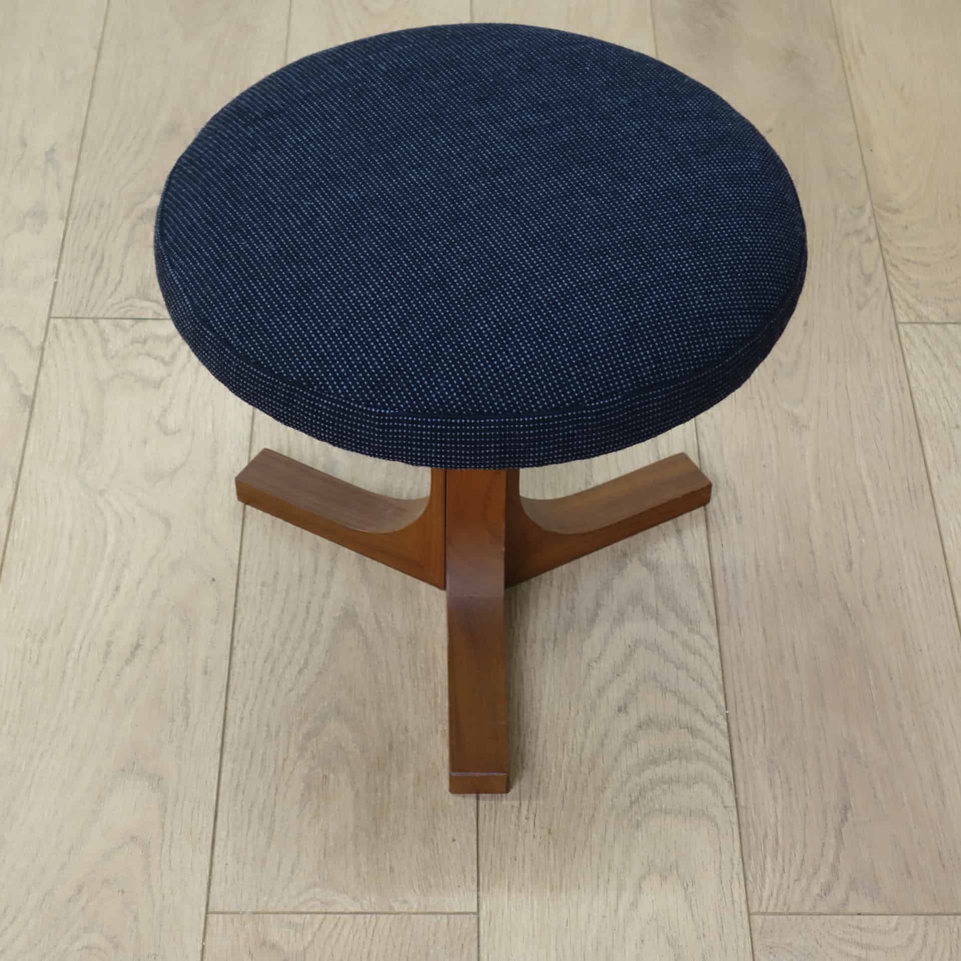 1960s Danish teak dressing table stool