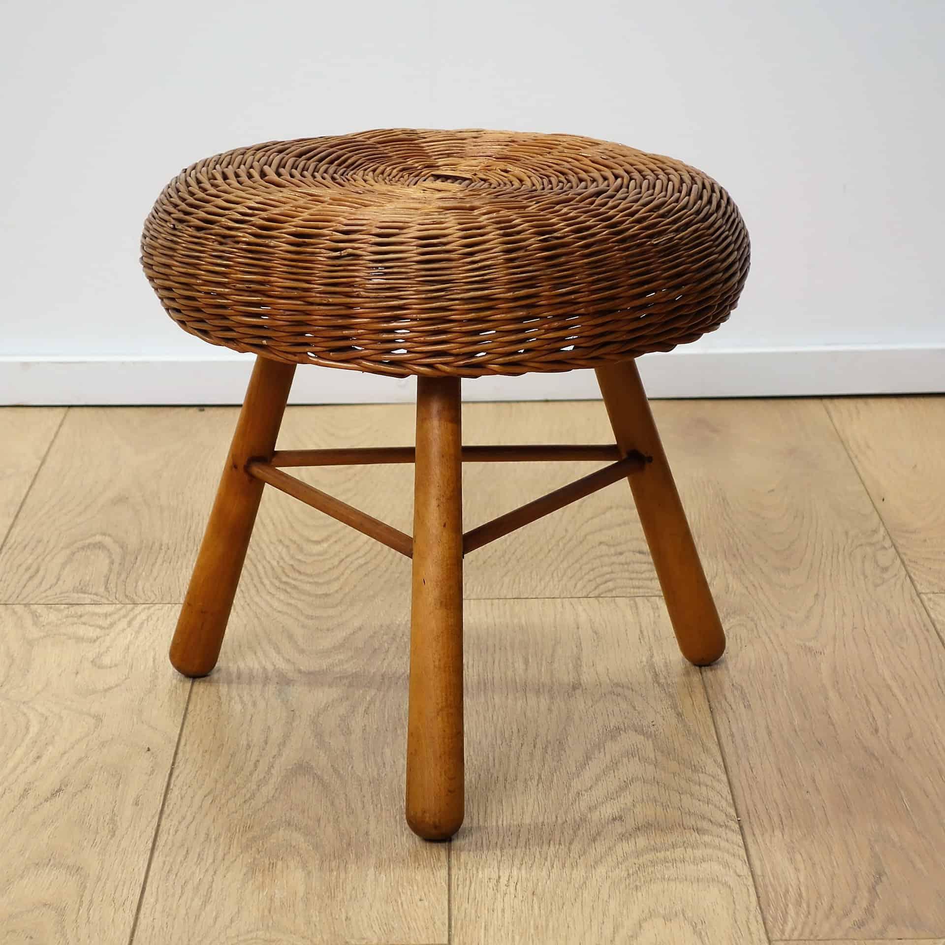 wicker stool tony paul